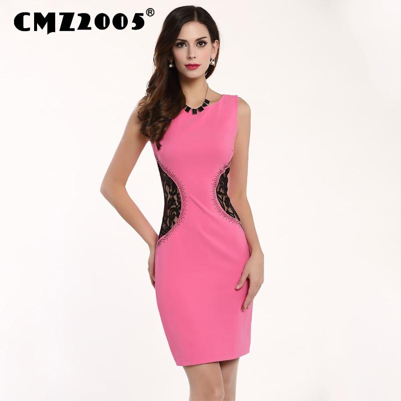 55ba96a3fd329 حار بيع النساء ملابس ذات أكمام الربط الرباط الديكور الأزياء مثير البسيطة  فساتين الصيف اللباس شخصية 71171
