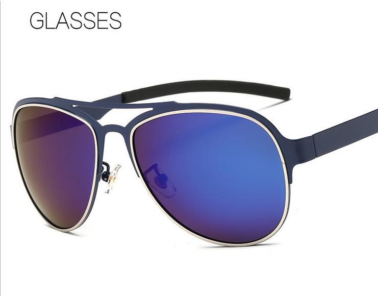 Polarized sunglasses for men Double color big box driving sunglasses tourism and leisure sun glasses