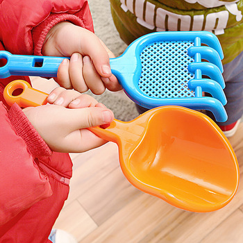 SLPF 2 Piece Set Summer Hot Children Beach Toys Tools Plastic Shovel Sand Snow Target Kids Baby Outdoor Games Play House Toy N15 3