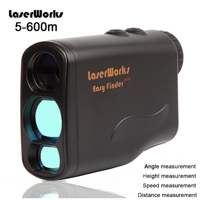600m Golf Laser Range Finder Monocular Telescope 6x21 Outdoor Multifunction Distance Speed Angle Height Measuring Rangefinder