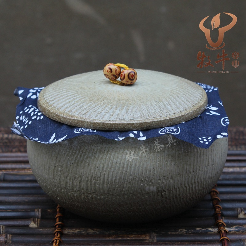 The New Yixing Yixing Tea Mix Round Belly Bright Glaze Small Pot Tea Storage Tank Manufacturer Direct Wholesale Price