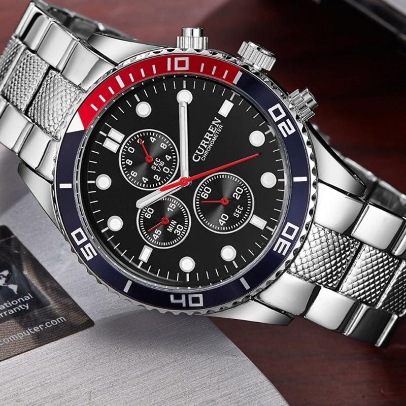 CURREN Sport Quartz Watch Men Fashion Casual Top Brand Luxury Men's Wrist Watches Business Clock Male Military Army Steel Clocks  недорого