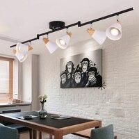 Nordic гостиная прожекторы современные потолочные светильники магазин одежды стены трек светодиодные лампы коридор бар украшения домашнего
