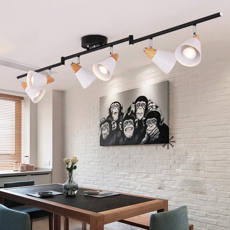 Modern Led Track Spotlights Clothing Stores Modeling: Nordic Living Room Spotlights Modern Ceiling Lights