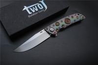High Quality TWOJ 3501 Folding Knife Blade S35VN Satin Handle TC4 Plane Bearing Outdoor Camping Pocket