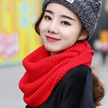 2017 зимний кабель кольцо шарф женский вязаный бесконечность шарфы