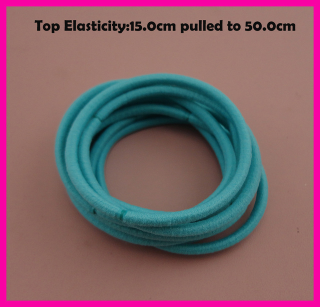 113PCS 13mm Top Elasticity Light Blue Elastic Ponytail Holders rope ...