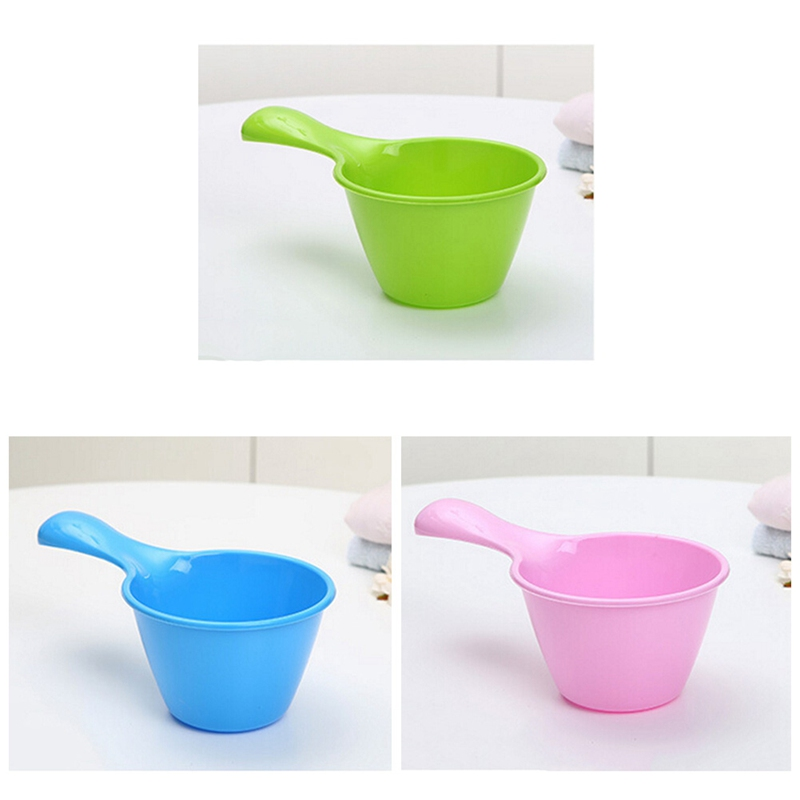 New Baby Small Water Scoop Baby Shower Spoon Child Washing Hair Cup Kids