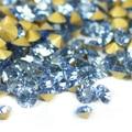 Lt. Sapphire Color ~ 1440 unids/bolsa ss3 ~ ss19 Ronda pointback rhinestones flojos de Cristal, Vidrio pegamento en las uñas arte