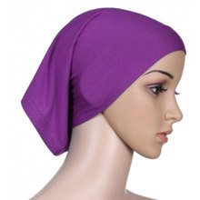 Fashion Full Cover Women Muslim Headscarf Islamic Head Wear Underscarf Shawls Hijabs Solid Colors Headbands Headwear
