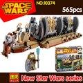 565 unids bela 10374 star wars robot bloques de construcción diy juguetes modelo de buque de guerra de transporte compatible 75086 figuras de acción de juguete para niños regalo