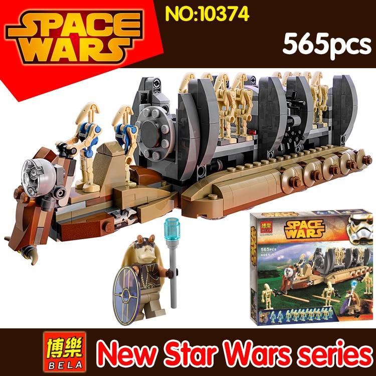 565pcs BELA 10374 Star Wars Robot transport warship Building Blocks DIY Model Toys Compatible 75086 Action figures kids Toy Gift
