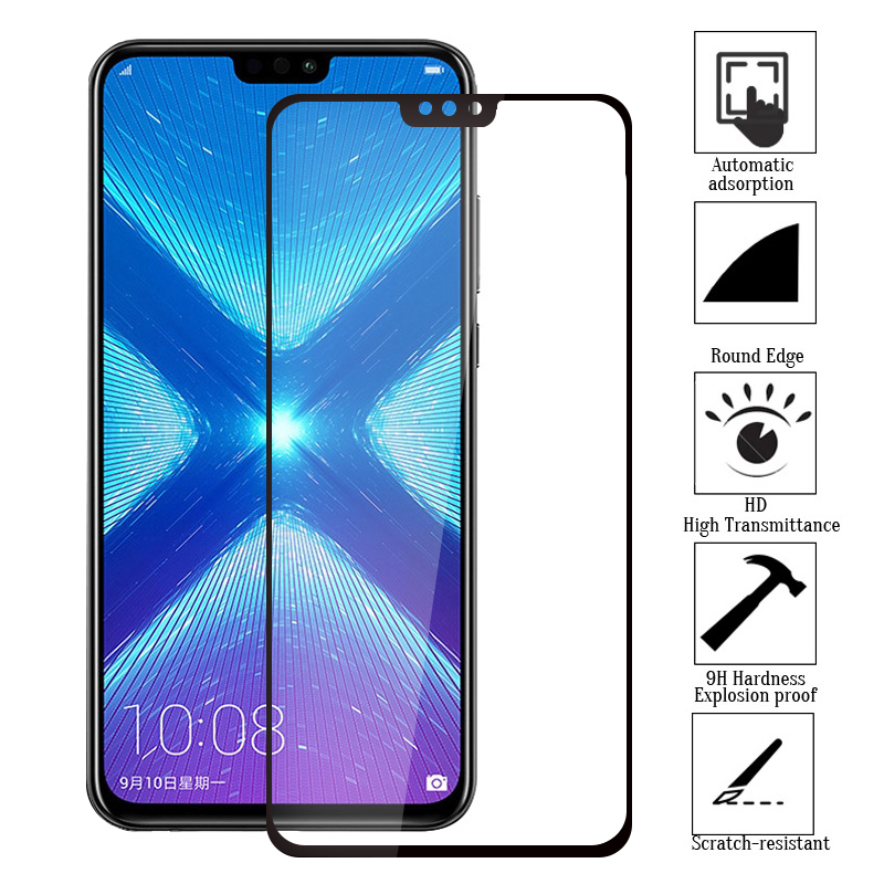 For Huawei Honor 8X Full Protection Shockproof Screen Protectors For Honor 8X For Honor8X 8 X Toughened Tempered Glass FilmFor Huawei Honor 8X Full Protection Shockproof Screen Protectors For Honor 8X For Honor8X 8 X Toughened Tempered Glass Film