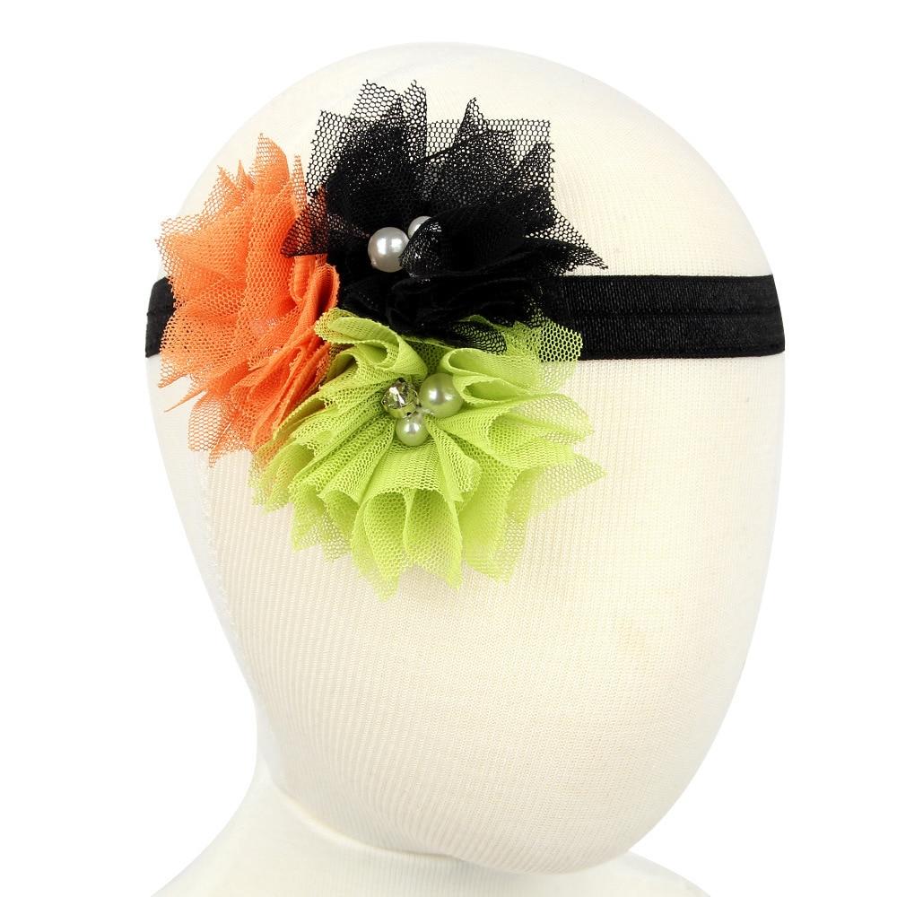 1pcs bead net yarn sunflower halloween hair headbands for hair