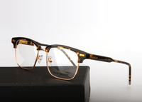 Thom Browne New York Brand Tb711 Acetate Metal Square Half Frame Eyeglasses Optical Reading Men Eye