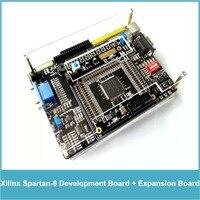FPGA Xilinx Spartan 6 XC6SLX9 Development Board Spartan6 Core Board + Peripheral Expansion Board + AD DA Module + Power Adapter