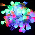 220 V Colorido 10 m Guirlanda de Natal bola lâmpada led tira do DIODO EMISSOR de bola corda iluminação do feriado de Natal festas decoração do casamento