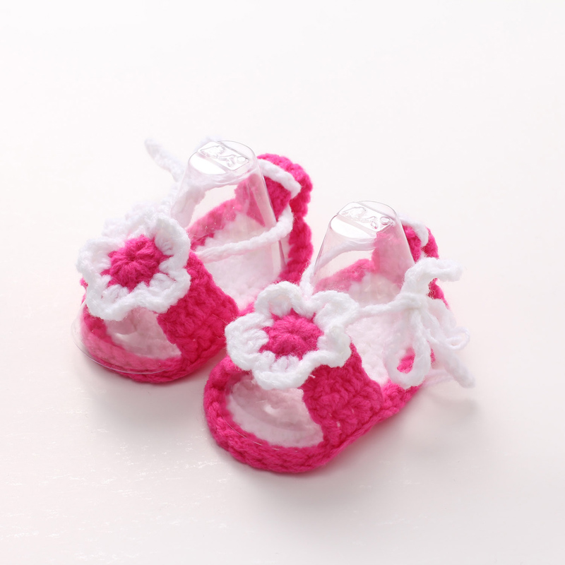 The New Hand-knit Wool Newborn Baby Soft Bottom Toddler Shoes(1-18 months) ...