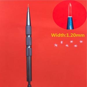 1.2mm Sapphire Eyebrow hair planting tool hair follicle planting pen tool Health Hair Scalp nursing