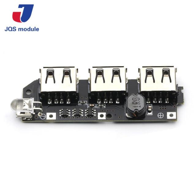 5 v 1A 1.5A 2.1A 3 USB Ngân Hàng Điện Sạc Bảng Mạch Step Up Boost Power Module + 5 s 18650 Li-Ion Trường Hợp TỰ LÀM Kit Powerbank