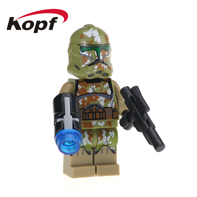 Single Sale Commander Kashyyyk Gree White Clone Soldiers Building Blocks Star Wars Action Figures Toys for children Gift XH 628