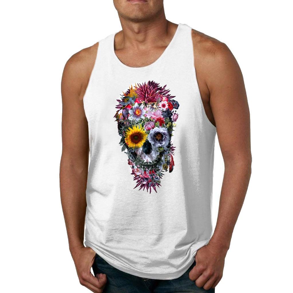c1e7232fe3356 New Skull Beast Gyms Clothing Bodybuilding Tank Top Men Fitness Singlet  Sleeveless Shirt Modal muscle Vest