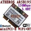 Atheros AR5B195 беспроводная связь Bluetooth половина PCI-E карты wi-fi 150 м Bluetooth 3.0