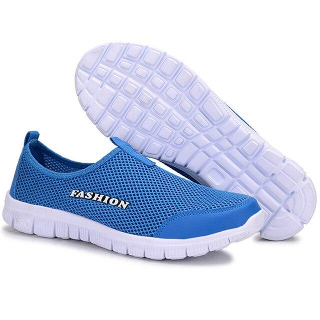 Men Shoes Fashion 2017 Summer Comfortable  Men Casual Shoes Mesh Breathable flats Plus Size 38-46