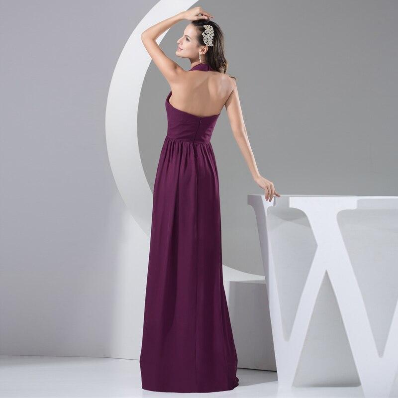 62145766f Nixuanyuan gasa púrpura vestido de noche 2017 largo Halter una línea de vestidos  formales 2017 vestido de la madre vestidos de Noite en Vestidos de noche de  ...