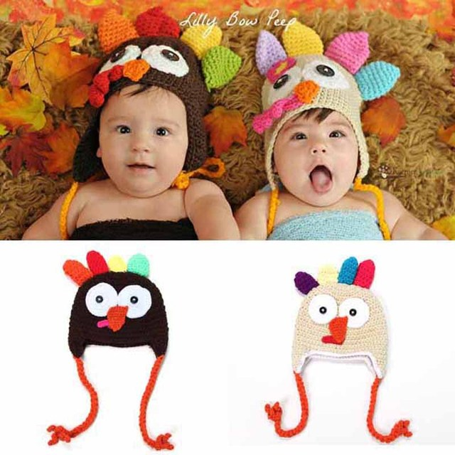 Baby Crochet Turkey Hat Thanksgiving Hat Newborn Animal Photo Prop ...