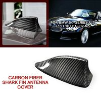 pcmos Carbon Fiber Shark Fin Antenna Cover Trim For BMW 5 7 Series F10 F11 F01 F02 M5 2019 Exterior Accessories Car Stickers New