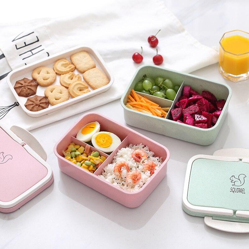 ONEUP Eco Lunch box bento box Portátil Dos Desenhos Animados de palha de Trigo Microwavable recipiente de armazenamento de alimentos para crianças de estudantes do ensino médio
