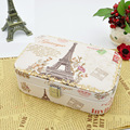 High grade love birthday gift choice fashion printed Eiffel Tower etc. jewelry box earings ring bracket carrying case 6 styles