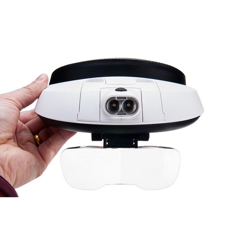 Urijk 2 Led-leuchten 20x Lupe Tragbare Stirnband Gläser Für Uhr Elektronische Reparatur & Juwelier Reparatur Uhr Mit Led Lampe Messung Und Analyse Instrumente Optische Instrumente