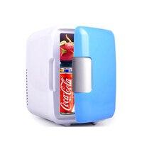 12V 4L Car Refrigerator mini Warm Cool Vehicle Refrigerator Auto Freezer Fridge Multi function Travel Refrigerator