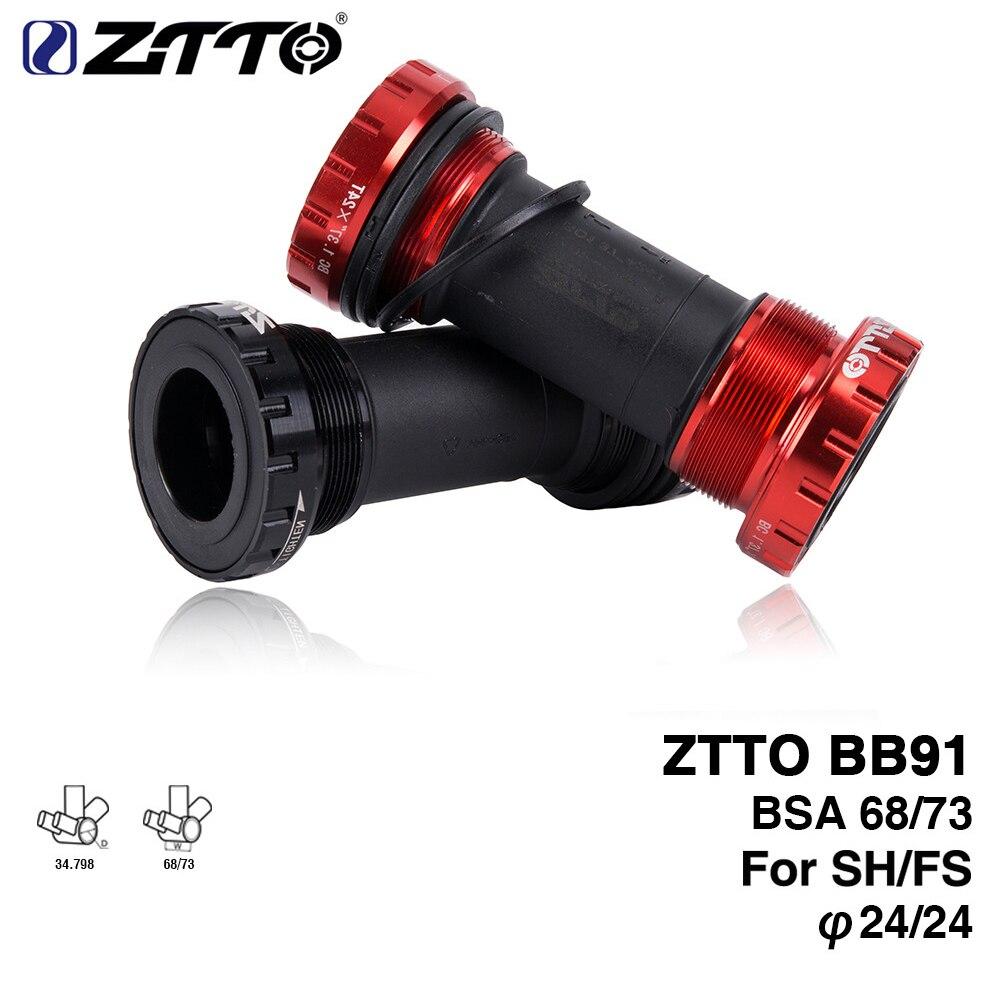 ZTTO BB91 подшипник Нижний кронштейн винт тип 68/73 мм велосипедная ось MTB дорожный велосипед водонепроницаемый CNC сплав BB Нижний Кронштейн подшип...