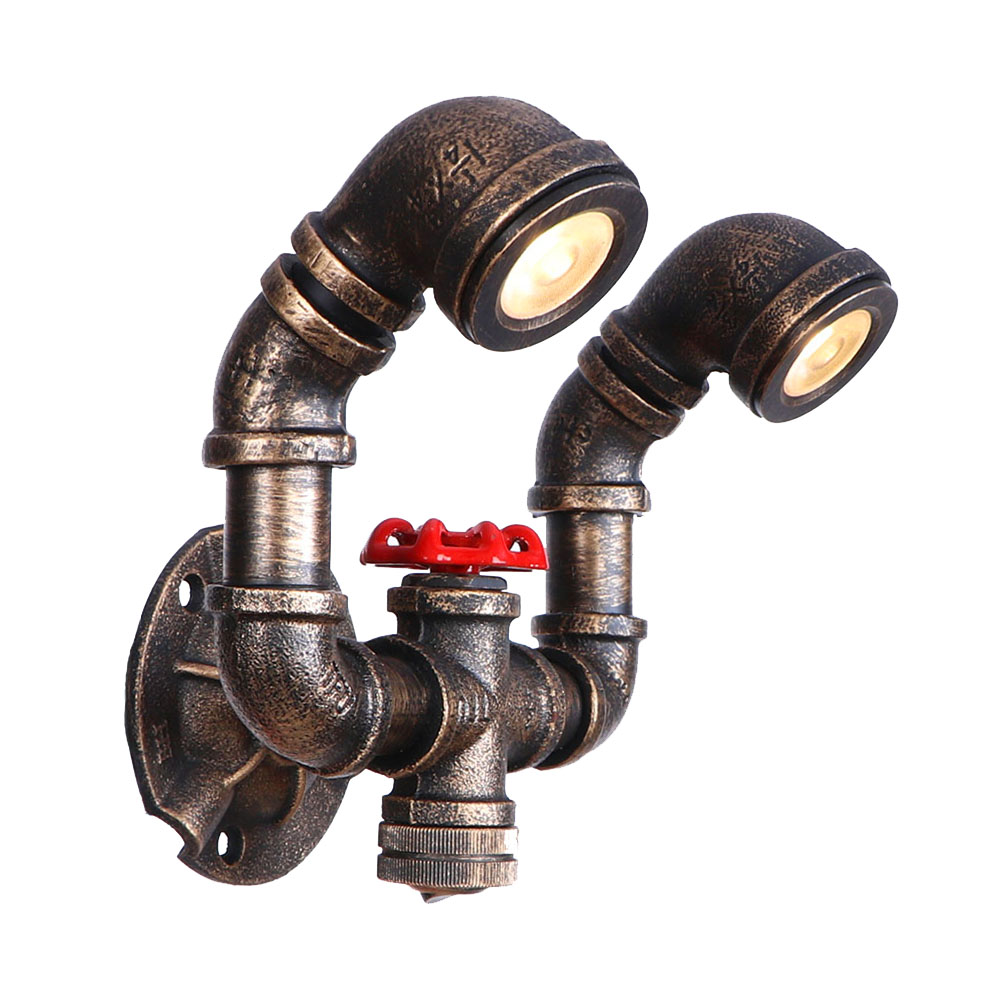 LED hand light up letters small spotbrown antique brass color modern lamp industiral wall lamp