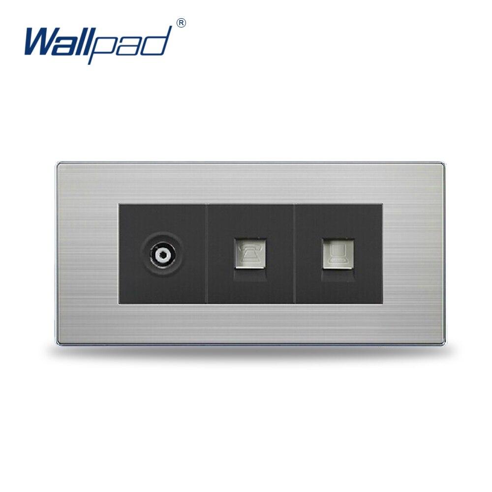 9425b2197 2018 COM + TV + TEL Tomada de Venda Quente China Fabricante Wallpad Botão  Tomada Interruptor da Luz de Parede de Luxo