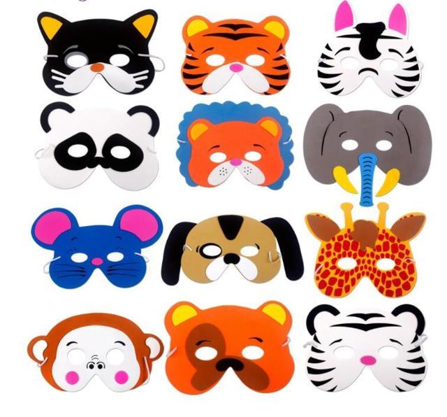 12 Piezas Diy Ninos Mascaras Animales Cumpleanos Fiesta Mascaras Cumpleanos Fiesta Decoracion Ninos Selva Fiesta Safari Fiesta Decoracion Ninos