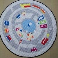 Cute Cartoon Cars Horse Pattern Multifunction Baby Play Mats Developing Crawling Carpet As Toys Storage Bag