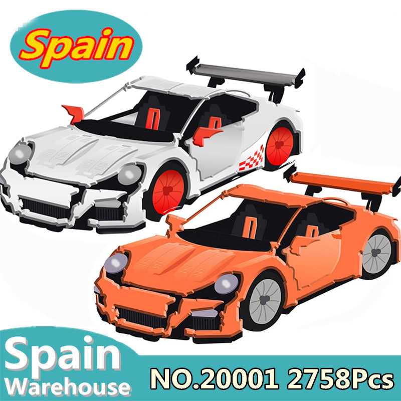 Kits de blocs de construction 20001 20001B voiture de course Compatible Legoing Technic 42056 jouets pour enfants briques navire d'espagne
