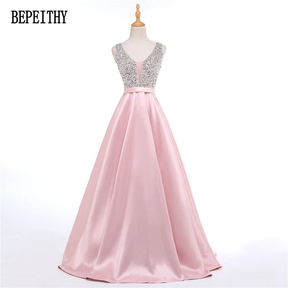 ⊱Bepeiithy 2017 vestido de festa v-cuello encantador Cuentas blusa ...