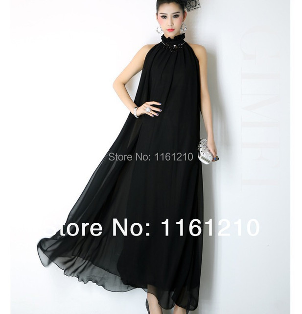 Black Formal Evening Party Long Prom Maxi Dress Gown Celebrity