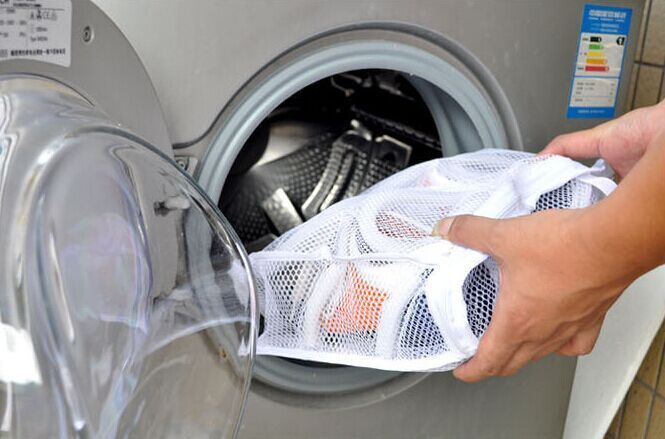 Nylon Washing Mesh Bag Shoes Laundry Net Hanging Wash Machine Shoes Bag Cleaner