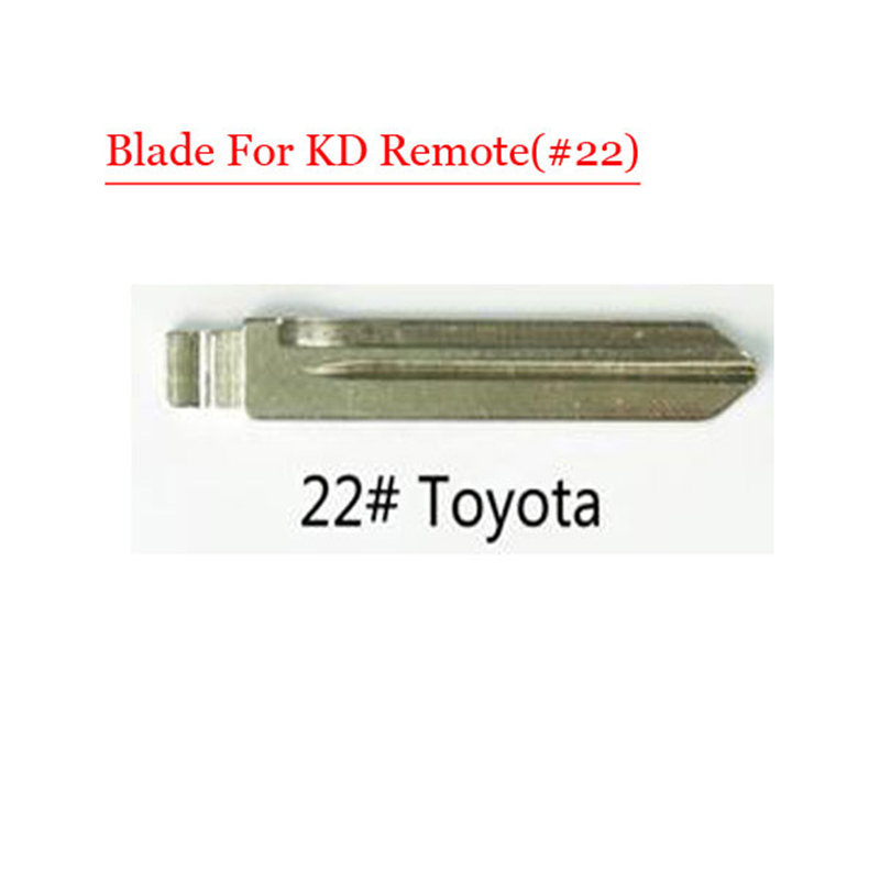 Metal Blank Uncut Flip Remote Key Blade  Type 22# for Toyota 10pcs/lot