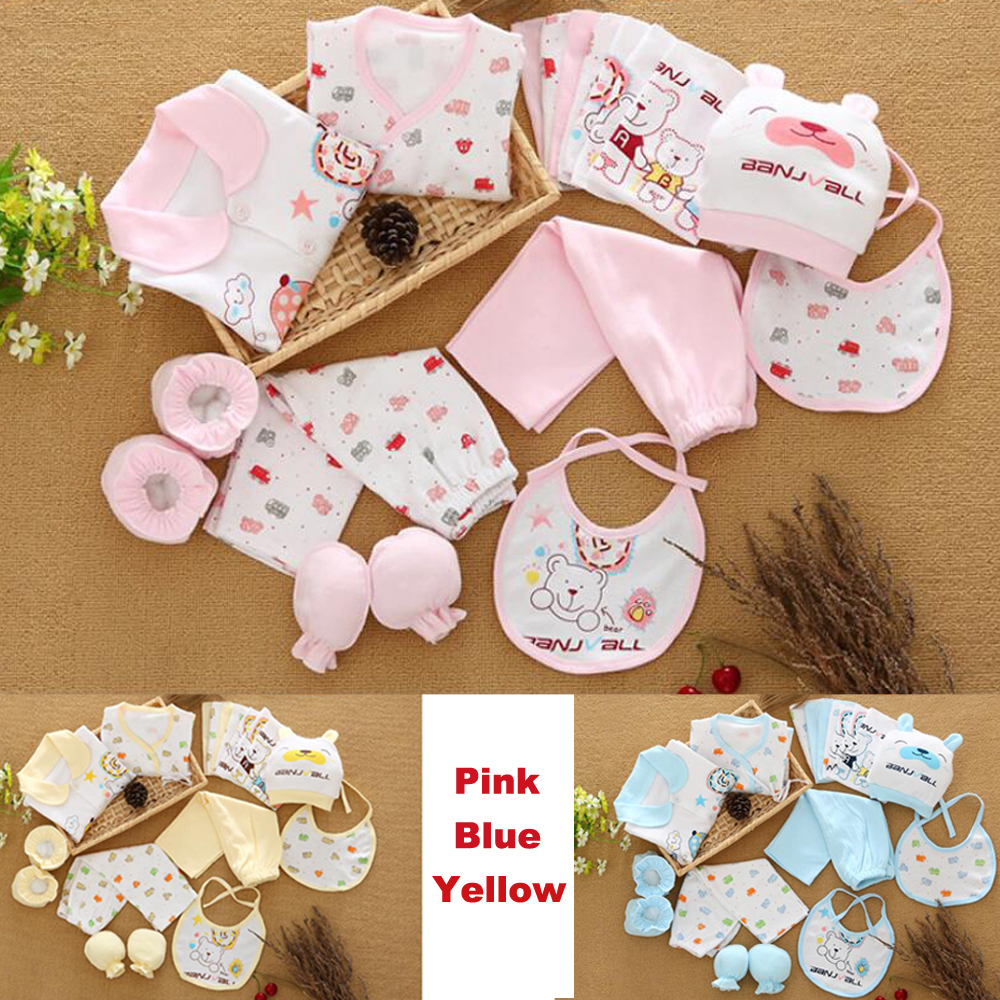 18PCS/Gift /Set New Style Baby Cotton Clothing Set /Newborn Hot Sales Gift /Infant Cute Clothes / Free Shipping