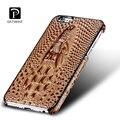 Qualidade estojo de couro de luxo para o iphone 6 plus/6 s plus casos tampa traseira 3d crocodile pattern para iphone 6/6 s