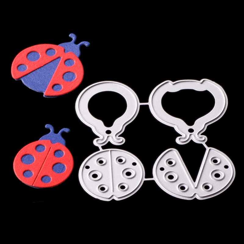 Cute Ladybugs Metal Cutting Dies Stencil For DIY Scrapbooking Photo Album Embossing Paper Cards Decorative Crafts Die Cuts