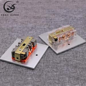 Image 3 - 2*US KS II# Power Connector Hi end DIY HIFI  Copper plated gold 20amp 20A 125V aluminium plate box power socket electric outlet