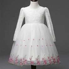 White pink long sleeve flower girl dresses first communion dresses for girls holy communion dresses kids evening gowns